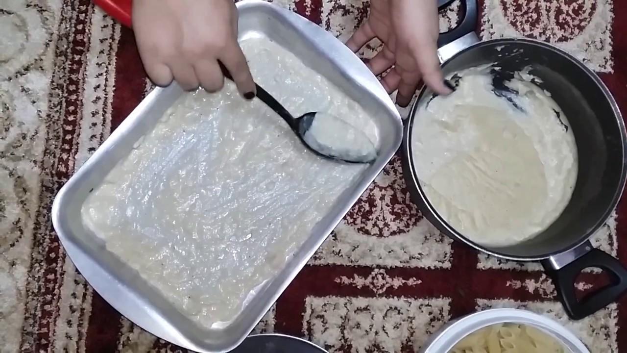 طريقة عمل صينية مكرونة بالبشاميل على طريقة الست غالية