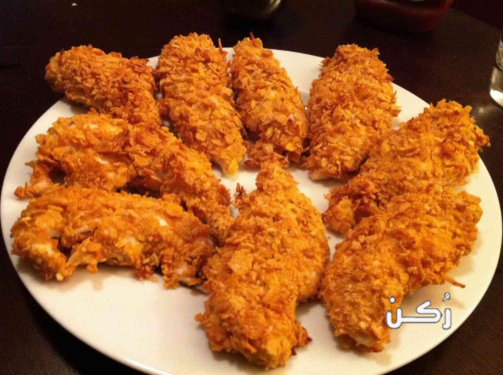 طريقة عمل الدجاج البانية المقرمش بالبيت