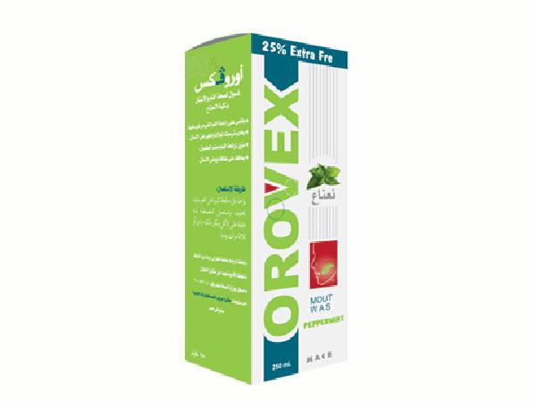 غسول أوروفكس Orovex لصحة الفم والأسنان بنكهات مختلفة