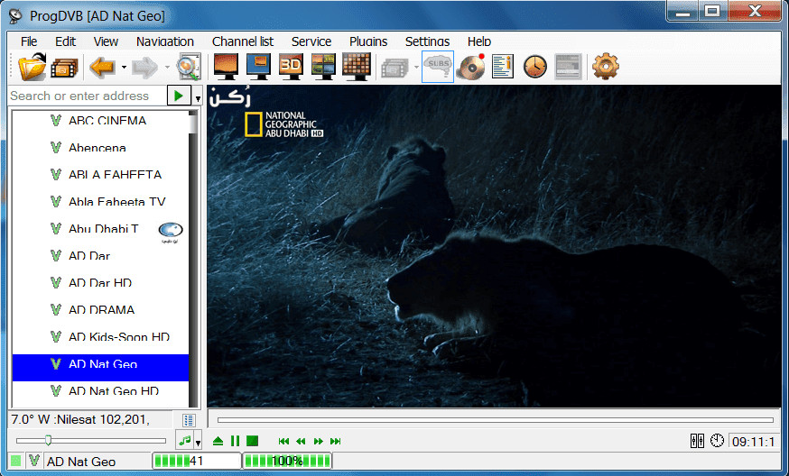برنامج ProgDVB 7.27 لتشغيل كروت الستالايت لجهاز الكمبيوتر