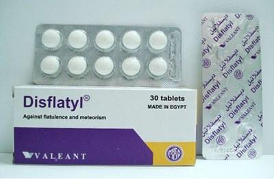 ديسفلاتيل Disflatyl أقراص لعلاج الانتفاخ ومشاكل القولون والمعدة