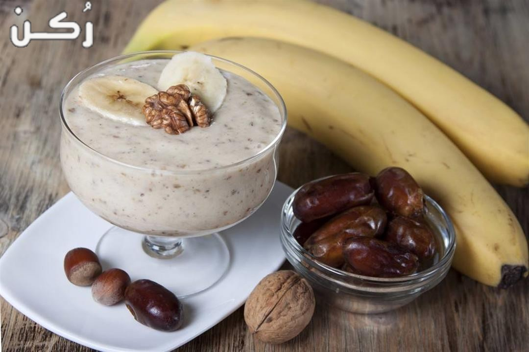 فوائد عصير الموز بالحليب والتمر لزيادة الوزن وعلاج الأنيميا للحامل