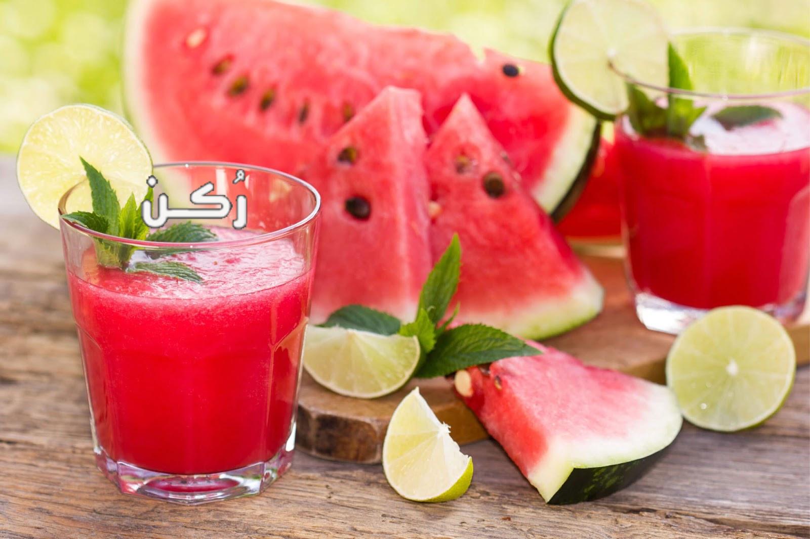 فوائد عصير البطيخ للرجيم والبشرة والشعر والمعدة