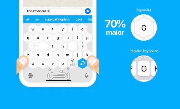 تحميل تطبيق Type wise Keyboard للأندوريد والآيفون برابط مباشر