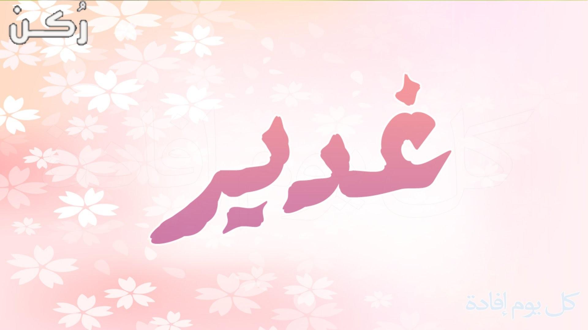 معنى اسم غدير وحكمه في الإسلام موقع ر كن