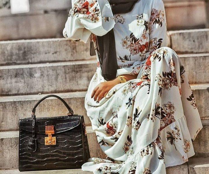 أجمل موديلات فساتين للعيد للمحجبات بالصور