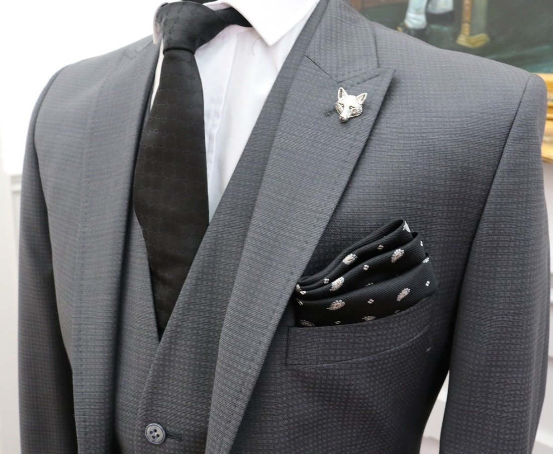 بدلة رجالي 2020 رمادي غامق